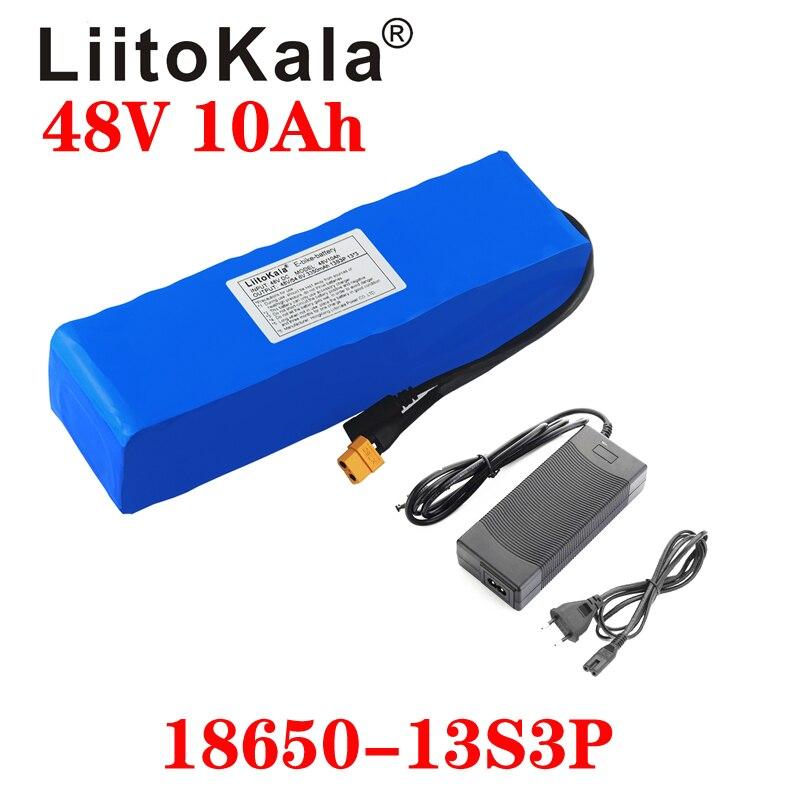 LiitoKala e-bike battery 48v 10ah li ion battery pack bike conversion kit bafang 1000w and charger XT60 Plug